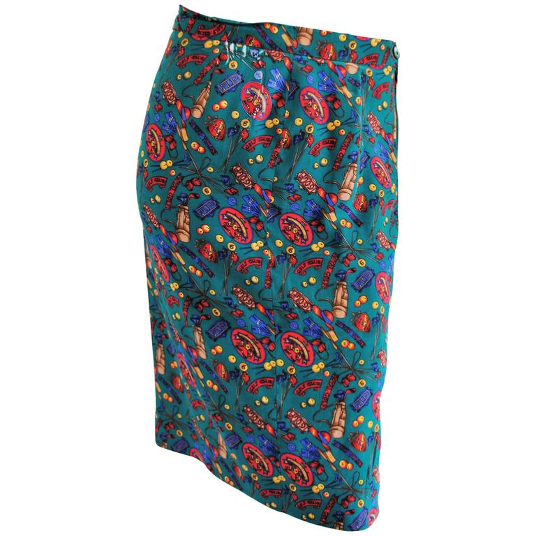 Multicolour Vintage silk skirt