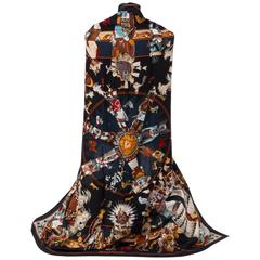 """New in Box Hermes Collectible Black Kachinas 54"""" Cashmere Shawl Scarf, Oliver"""