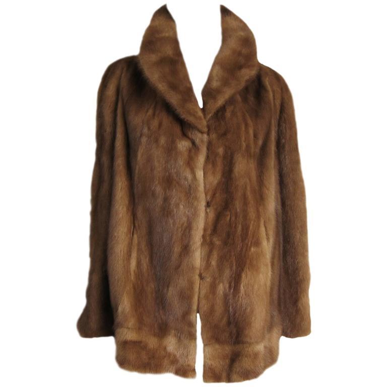 1960's Hollywood Glam Vintage Pastel Mink Fur Jacket