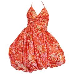 "Rare c1958-1960 Norman Norell Silk Taffeta ""Bubble"" Dress"