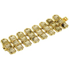 Kalinger Paris Gilt Metal and Resin Link Bracelet