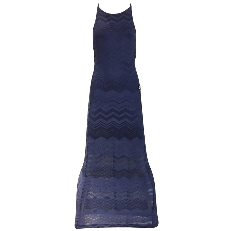 90s Ferre navy blue knit dress