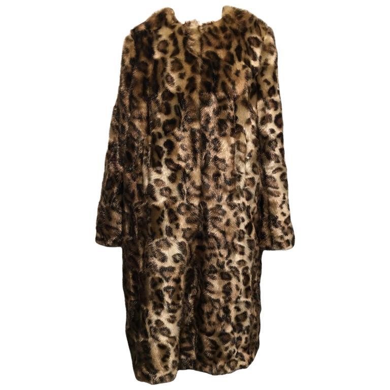 48e4ca59d Simone Rocha Leopard Print Faux-Fur Coat