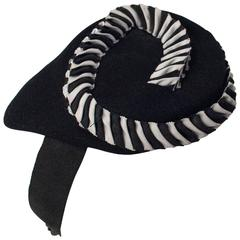 30 Black and White Swirl Fashion Hat