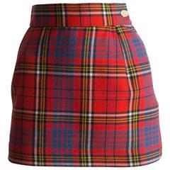 Vivienne Westwood Tartan Wool Mini Skirt, Circa 1993