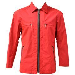Issey Miyake Uni-sex Neon Red Jacket