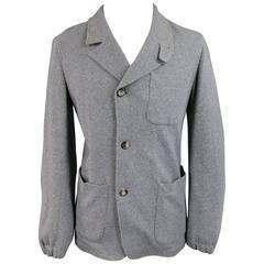 Men's YVES SAINT LAURENT S Heather Grey Soft Wool / Cotton Sport Coat