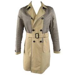 Burberry Prorsum Men's Trench Coat 40 Khaki Jacket