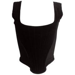 Vivienne Westwood black velvet and wool corset, circa 1993