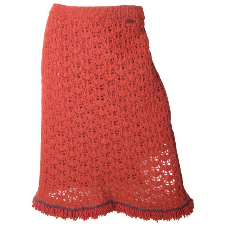 Chanel Crochet Skirt - sale