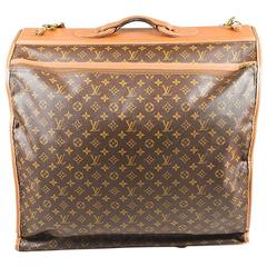 """Vintage Louis Vuitton The French Luggage Company Coated Canvas """"LV"""" Garment Bag"""