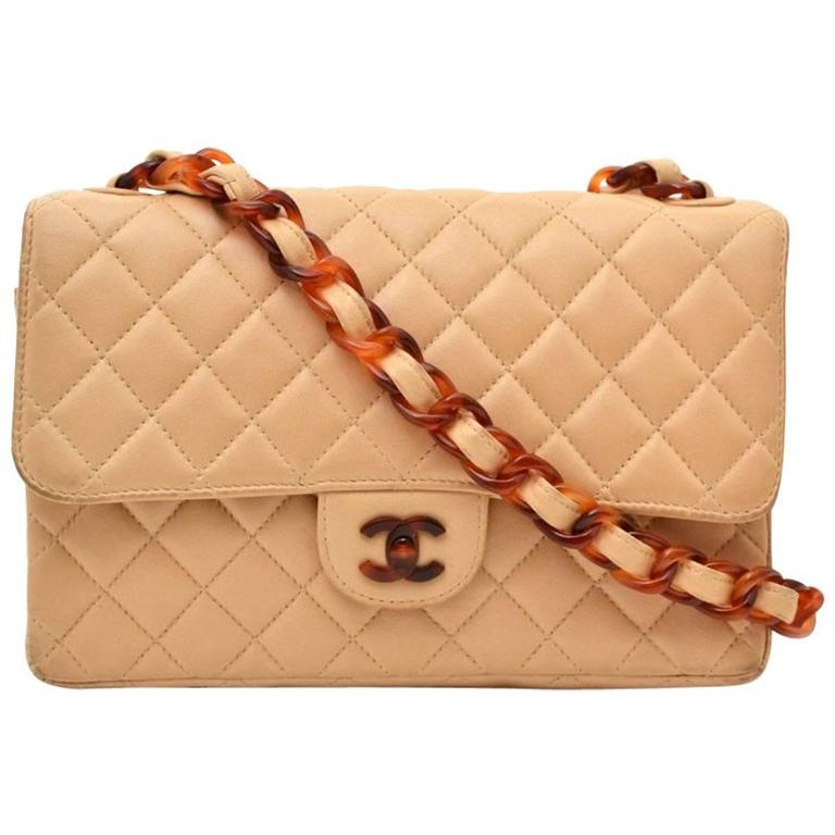 29a425882171 Chanel Classic Flap Bag Nude with Tortoise Details at 1stdibs