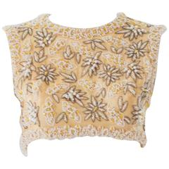 1960s Victoria Royal Ltd. Beaded Crop Top