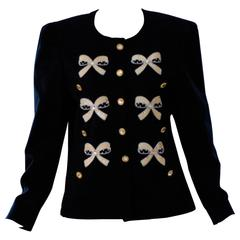 1990s Escada by Margaretha Ley Navy Jacket