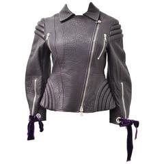 Alexander McQueen Purple Biker Jacket