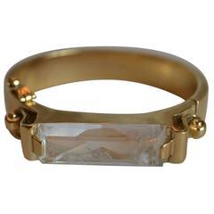 Goossens Paris Rock Crystal and Yellow Gold Bracelet