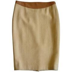As New Ralph Lauren BL Wool/Cashmere/Angora/Leather Skirt (4)