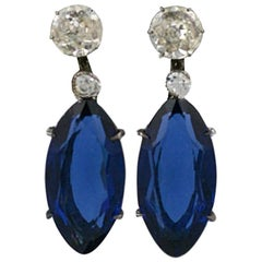 Lovely Marquise Paste Earrings