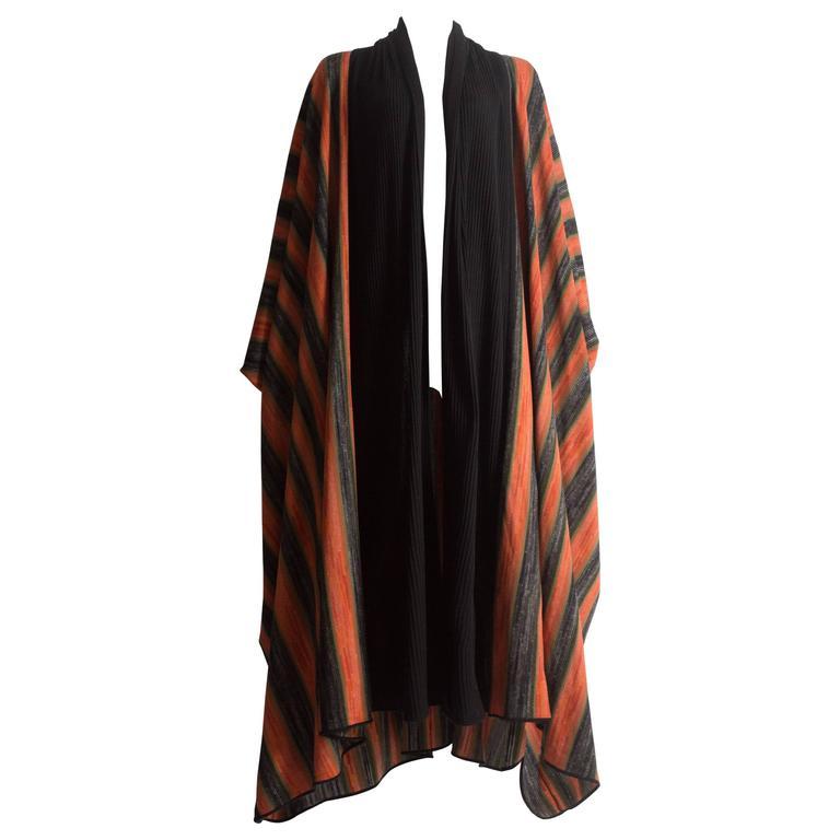 Issey Miyake striped knitted robe, circa 1976