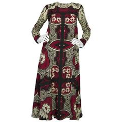 Valentino Floral Printed Silk Long Dress sz IT36