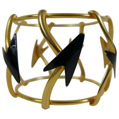 1980s GIANNI VERSACE Arrow Bracelet by Ugo Correani
