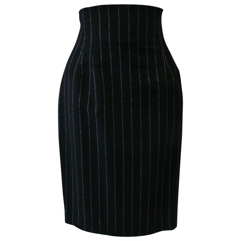 Paco Rabanne Striped High Waist Skirt 1