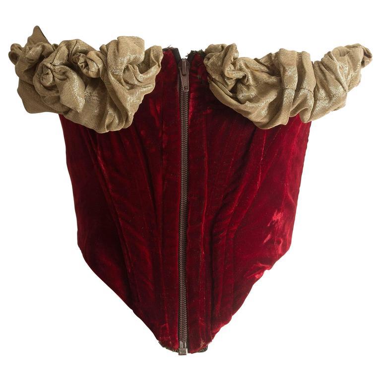 Vivienne Westwood red velvet 'Voyage to Cythera' corset, circa 1989