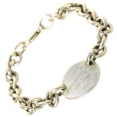 "Tiffany & Co. Sterling Silver ""Return to Tiffany"" Chainlink Bracelet"