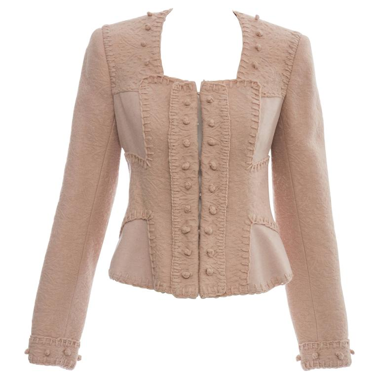 Yves Saint Laurent By Stefano Pilati Wool Jacket, Autumn - Winter 2005 For Sale