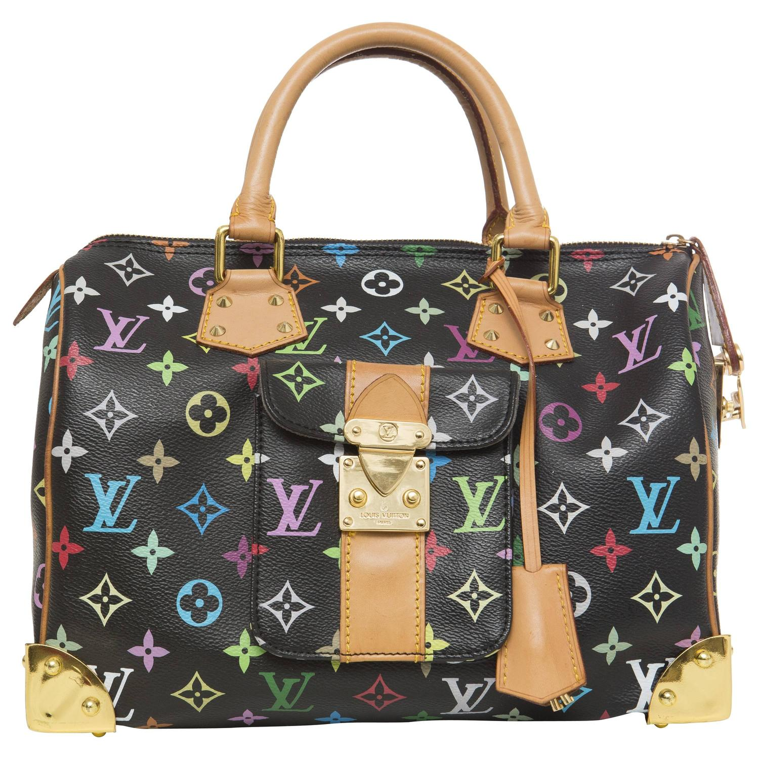 2ba0d9c0aaec Louis Vuitton Limited Edition Takashi Murakami Collection Speedy 30 Hand Bag  For Sale at 1stdibs