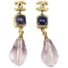 Chanel Paris-Byzantium Collection Lilac Dangling Earrings - Circa 2011