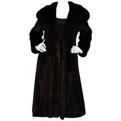 Brown Mink Long Coat sz M