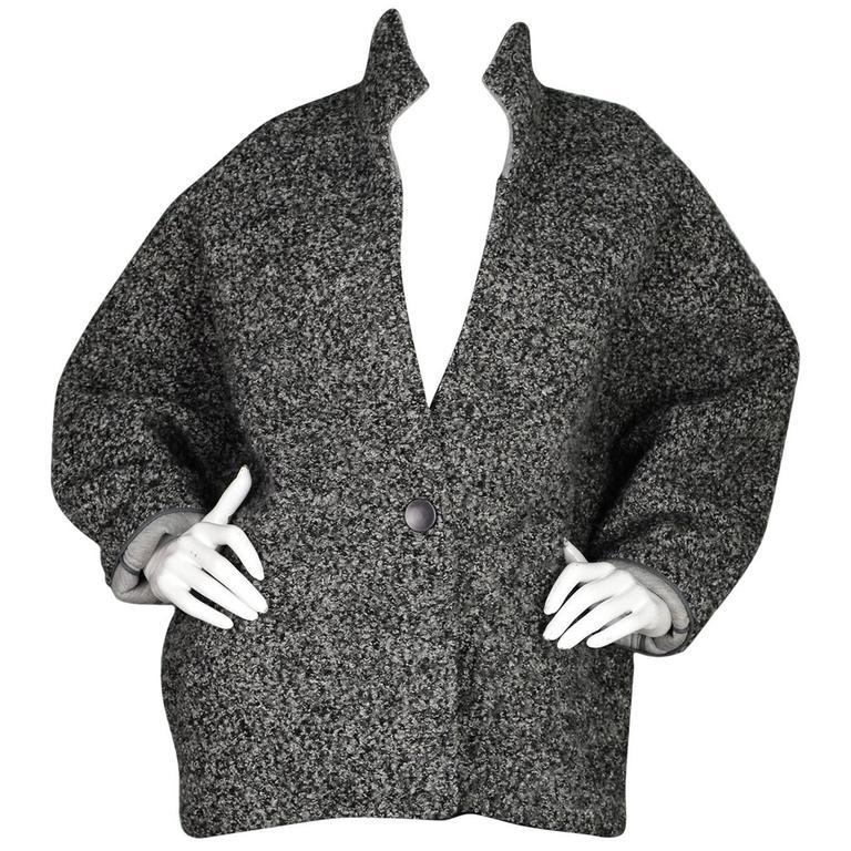 Isabel Marant Grey Boucle Dolman Sleeve Jacket sz FR38