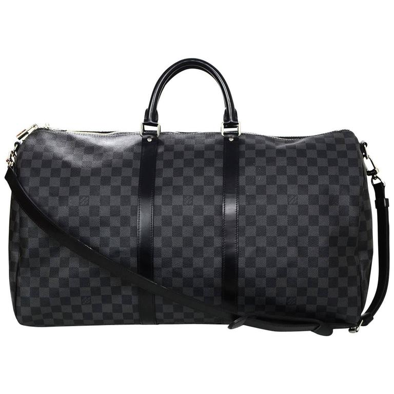 e2a2e8d46957 Louis Vuitton Damier Graphite Keepall Bandouliere 55 Duffle Bag For Sale at  1stdibs