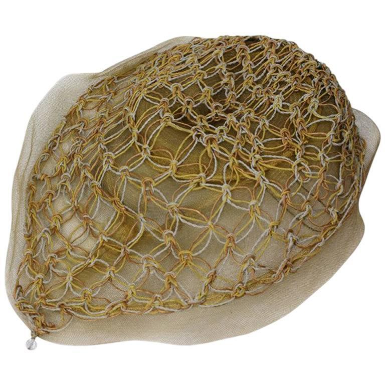 John Frederics New York Macrame Trim Hat