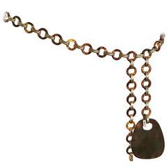 1970s Yves Saint Laurent Vintage Tortoise Shell + Gold Chain Belt / Necklace 70s