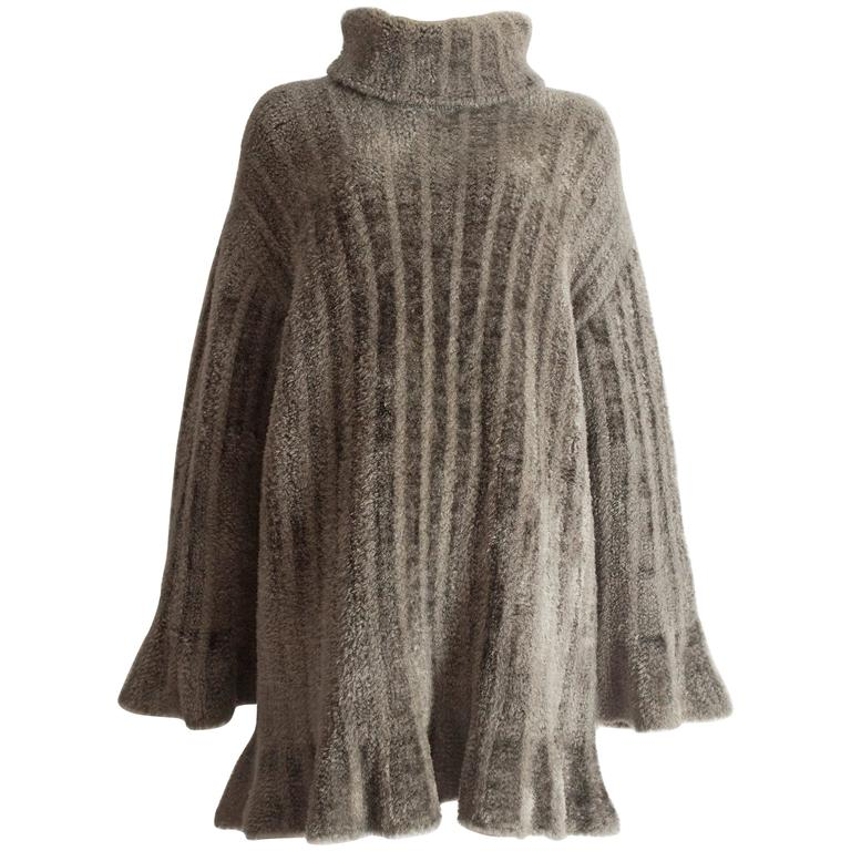 Alaia oversized chenille sweater dress, AW 1991