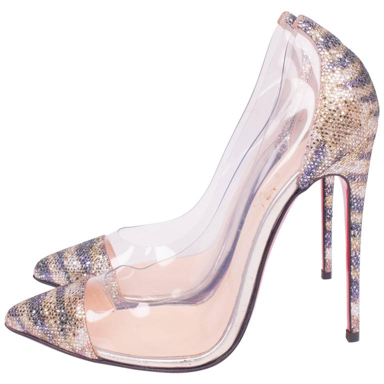 Louboutin Pumps - translucent/metallic