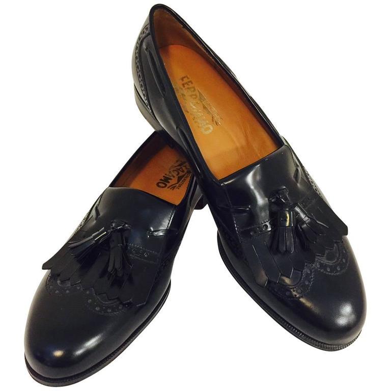 Men's Classic Salvatore Ferragamo Tassel and Fringe Loafers in Size 9 1/2