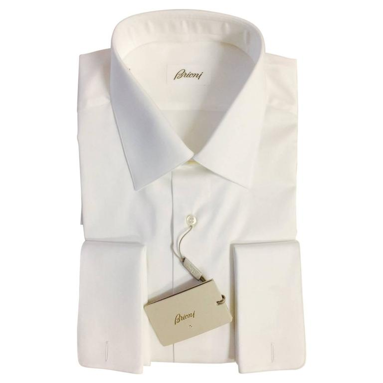 cc396bb4251d Men s New Brioni Dress Shirt with French Cuffs With Tags at 1stdibs