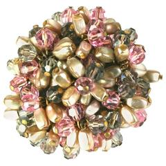 French Jeweled Cluster Clip