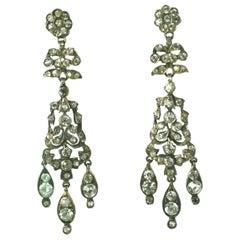 Long Victorian Paste Earrings