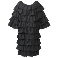 Victor Costa Ruffled Evening Coat