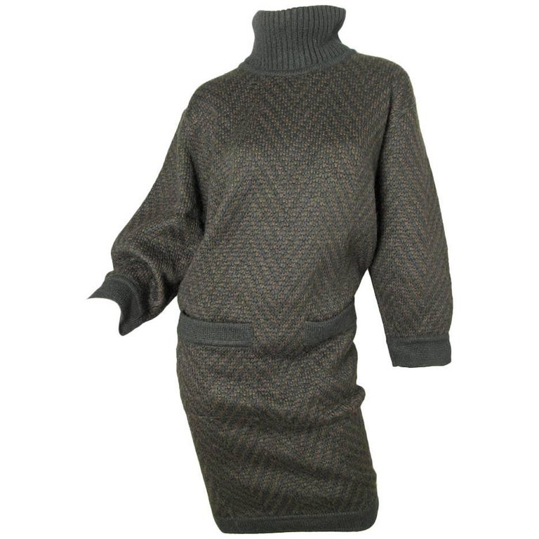 Alaia knit sweater dress For Sale
