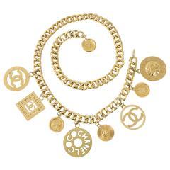 Chanel Vintage 1991 Goldtone XL Chunky CC Charm Belt or Necklace