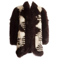 Yves Saint Laurent oversized wild fox coat, circa 1980s