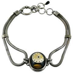Jean Paul Gaultier Vintage Watch Dial Dog Collar Choker Necklace
