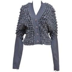 Alaia Ruffle Sweater  Mint NEW