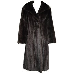 Classic Timeless Dark Ranch Mink Coat Medium