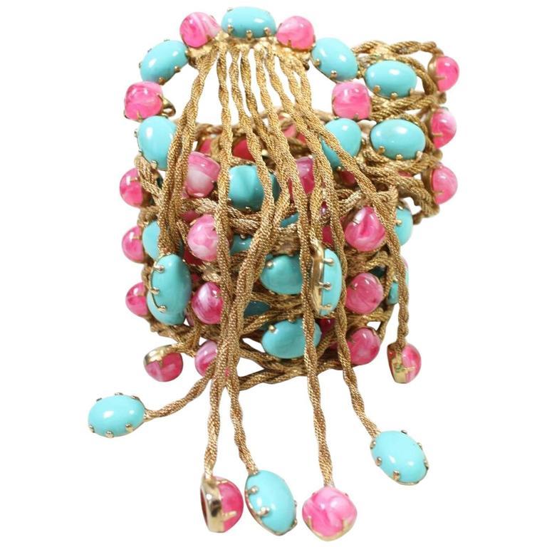 1960's Kenneth Jay Lane Bejeweled Belt 1